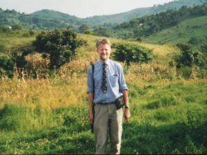 Jean-François Mayer, editor of Religioscope, during a research trip in Uganda in 2001.