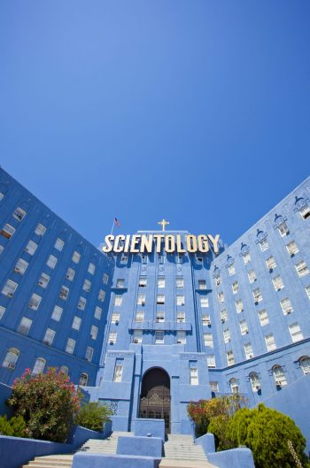 Los Angeles, USA - August 28, 2011: The Church of Scientology building in Los Angeles on Sunset Boulevard.