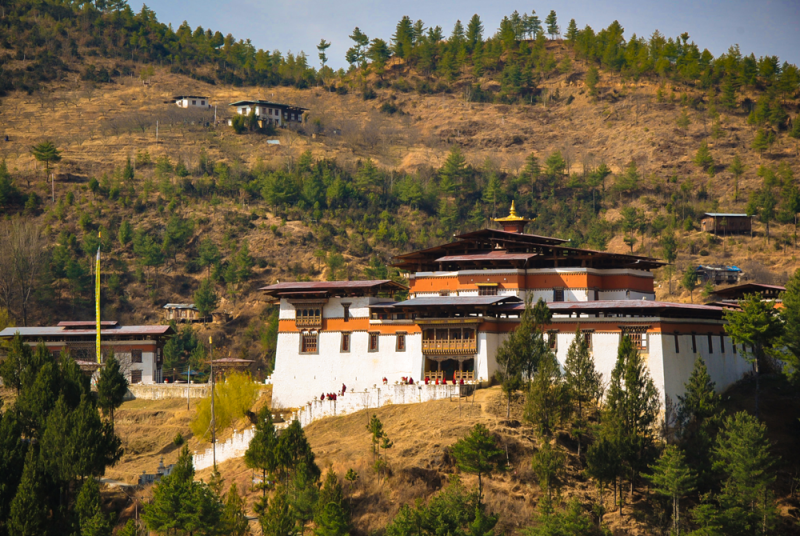 A Buddhist monastery near Thimphu, the national capital of Bhutan (© 2016 Vishal Arora).