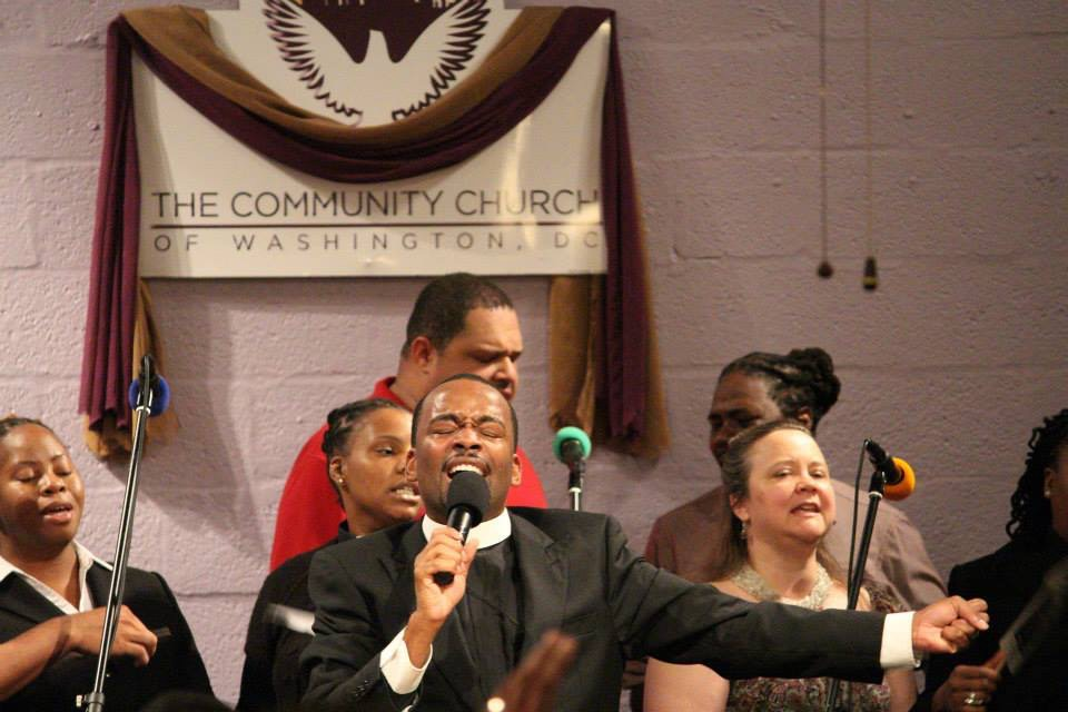 Service at the Community Church of Washington, DC (United Church of Christ) (source: www.ccwdc.org).